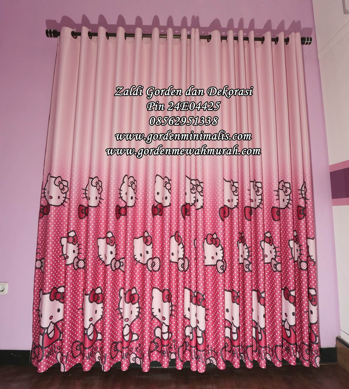 Jual Gorden Hello Kitty Murah Bahan Blackout berkualitas