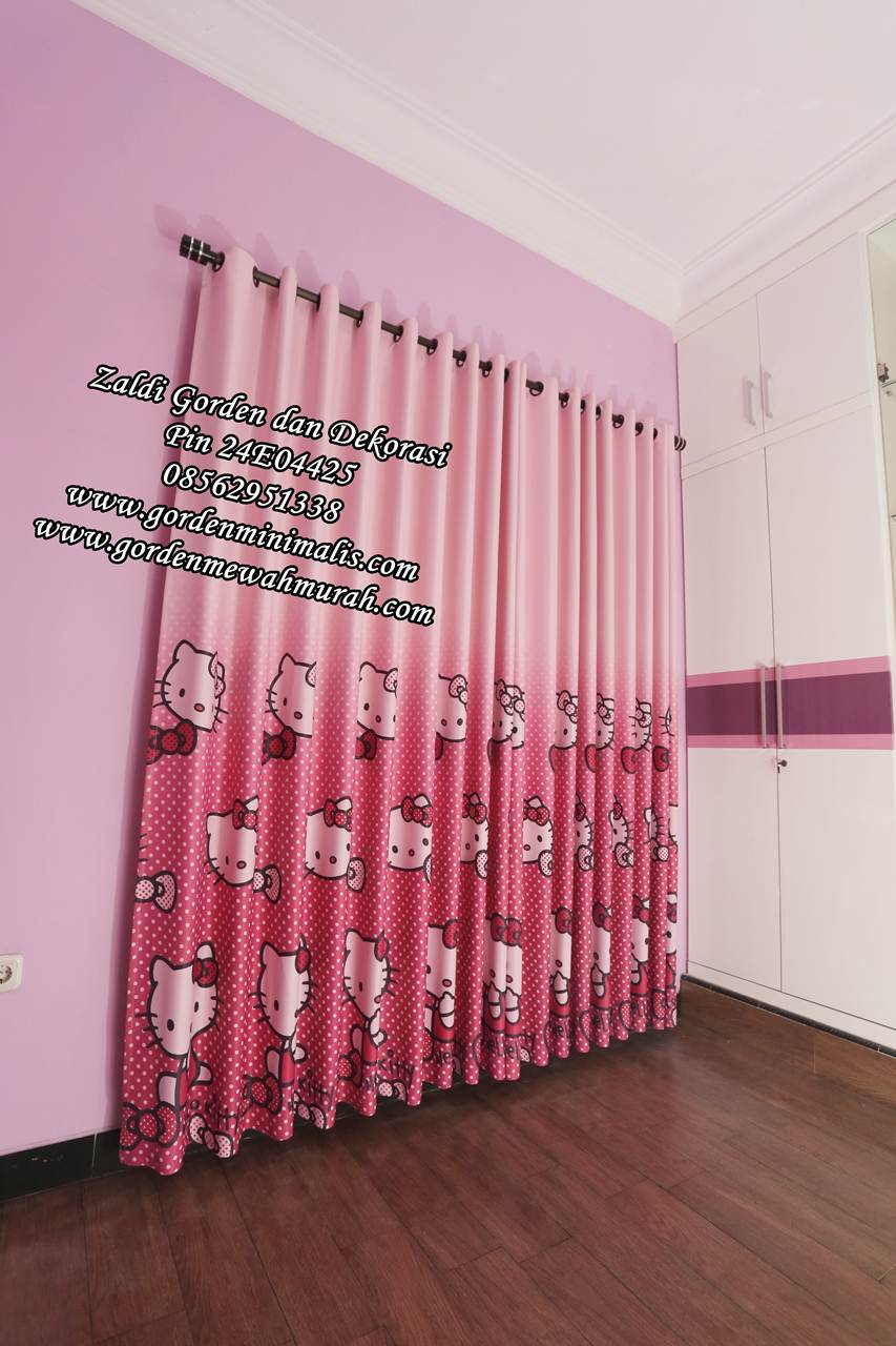 Gorden anak cantik motif hello kitty
