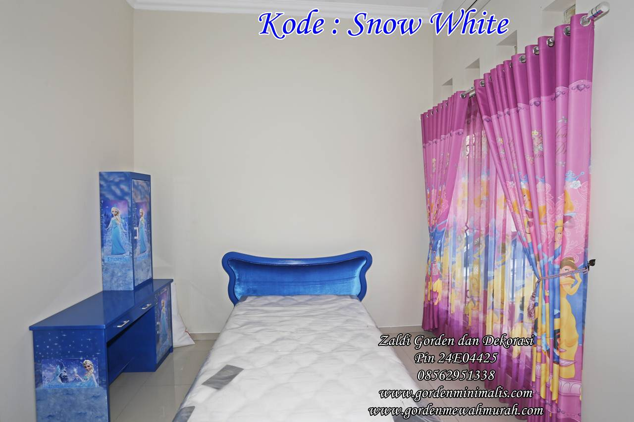 Tirai anak bahan blackout curtain snow white jual gorden pricess gorden motif princess kamar anak perempuan