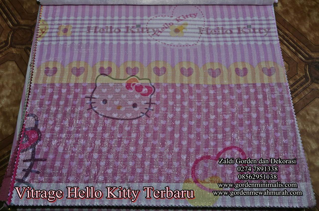 kain gorden hello kitty gorden anak