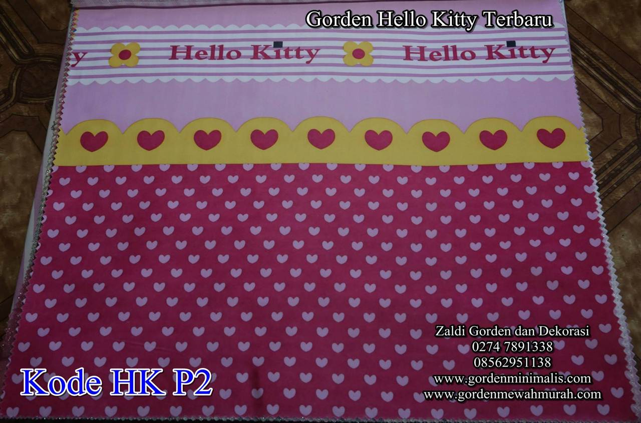 Gorden Kartun Hello kitty Motif Hello Kitty Gorden Murah Gorden Motif
