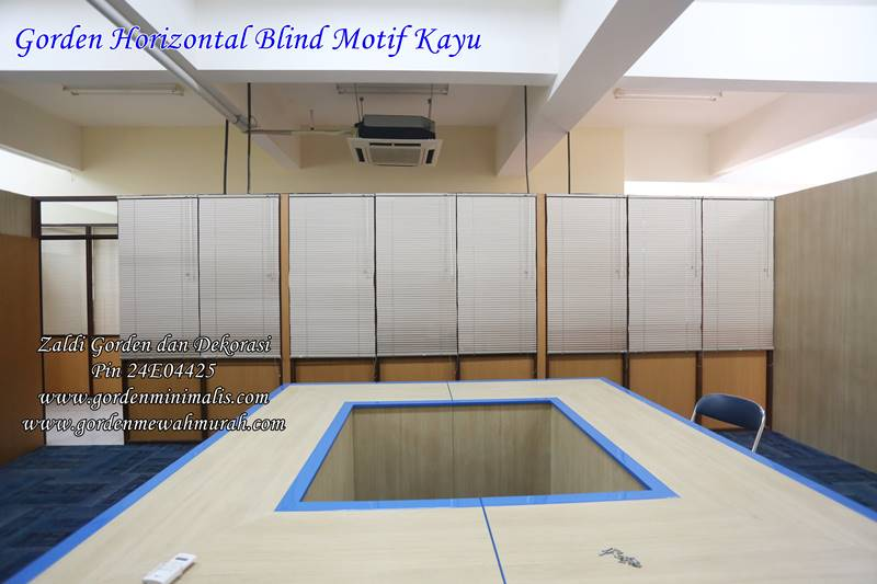 contoh gorden horizontal Blind