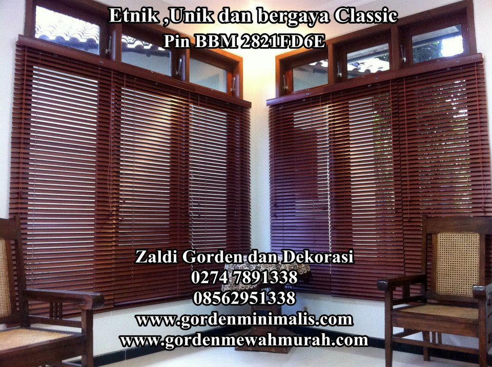 gorden kayu wooden blind curtain