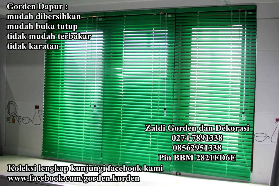 gorden dapur anti air anti minyak gorden horizontal blind