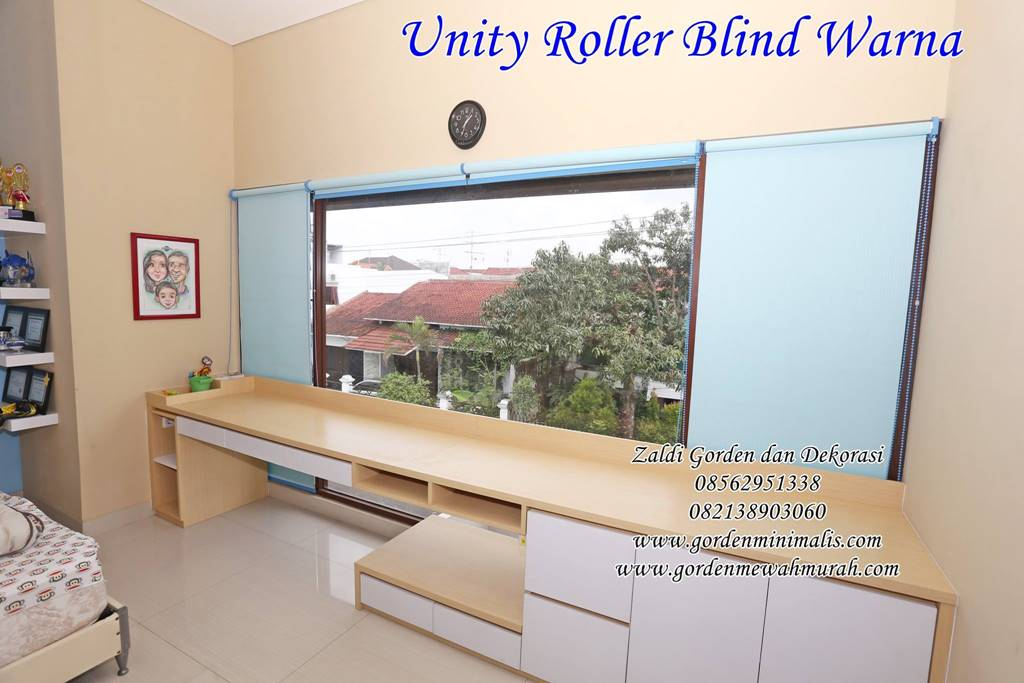 contoh pilihan warna Roller blind outdoor murah harga permeter merk sharp point onna tokopedia vertikal blind horizontal blind wooden blind roller blind dimout roller blind blackout roller blind solar screen 3