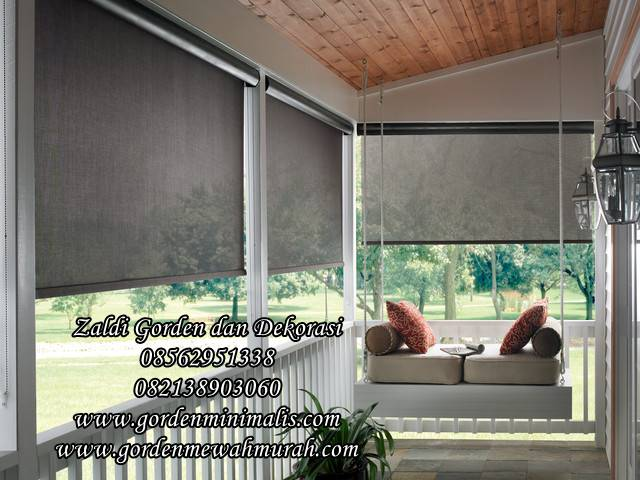 gorden roller blind out door suntex blind solar screen gorden di luar ruangan tahan air tahan hujan