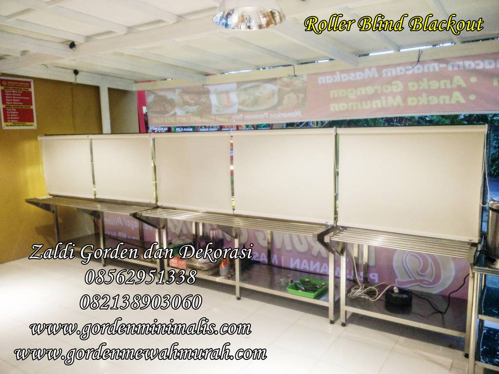 harga jadi gorden roller blind outdoor bahan blackout